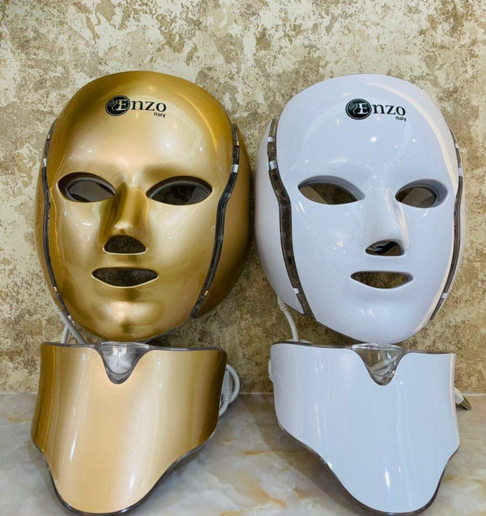 ماسک ال ای دی نقابی نور درمانی صورت برند انزو